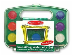 Watercolor Paint Set (Take-Along, 12 colors)