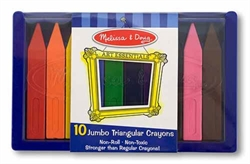 Triangular Crayons (Jumbo, Set of 10)