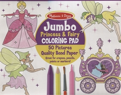Jumbo Coloring Pad (Princess & Fairy)