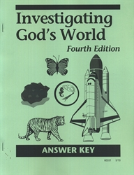 Investigating God's World - CLP Answer Key