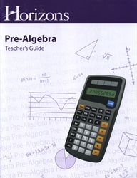 Horizons Pre-Algebra - Teacher's Guide