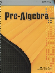 Pre-Algebra - Solution Key for selected problems