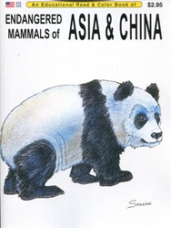 Endangered Mammals of Asia & China - Coloring Book