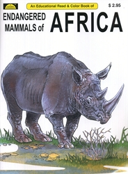 Endangered Mammals of Africa - Coloring Book