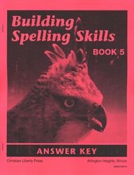 Building Spelling Skills Book 5 - Answer Key