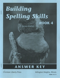 Building Spelling Skills Book 4 - Answer Key