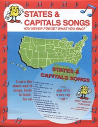 States & Capitals Songs with CD
