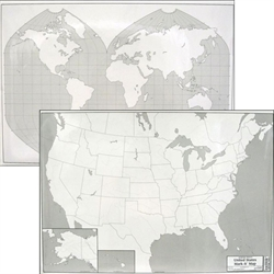 USA/World Mark-It Map (laminated)