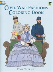 Civil War Fashions - Coloring Book