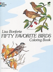 Fifty Favorite Birds - Coloring Book