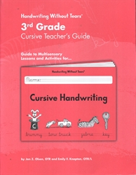 Handwriting Without Tears 3rd Grade Cursive Teacher's Guide