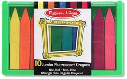 Triangular Crayon Set (Jumbo Fluorescent, 10pc)