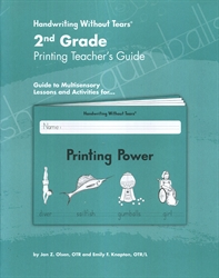 Handwriting Without Tears 2nd Grade Printing Teacher's Guide