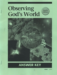 Observing God's World - CLP Answer Key