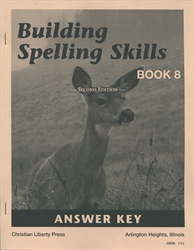 Building Spelling Skills Book 8 - Answer Key