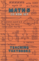 Teaching Textbooks Math 5 - CD-ROM