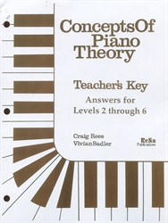 Concepts of Piano Theory - Teacher's Key