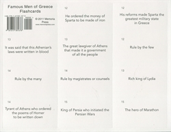 Famous Men of Greece - Flashcards
