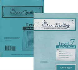 All About Spelling Level 7 - Teacher's Manual & Student Material Packet