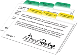 All About Reading - Divider Cards