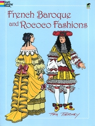 French Baroque and Rococo Fashions - Coloring Book