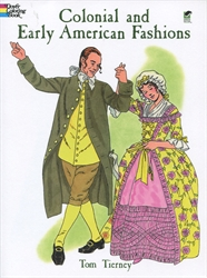 Colonial and Early American Fashions - Coloring Book