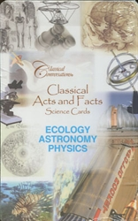Classical Conversations Ecology, Astronomy & Physics - Science Cards