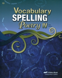 Vocabulary, Spelling, Poetry IV - Workbook