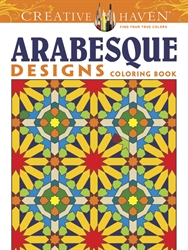Creative Haven Arabesque Designs - Coloring Book