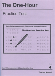 One Hour Practice Test 4 - Teacher Book