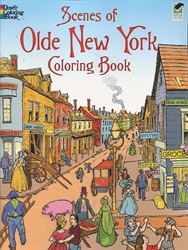 Scenes of Olde New York Coloring Book - Coloring Book
