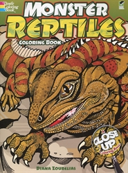 Monster Reptiles - Coloring Book