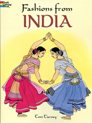 Fashions from India - Coloring Book