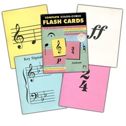 Complete Color-Coded Music Flash Cards