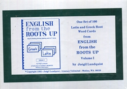 English From the Roots Up Volume I - Word Cards