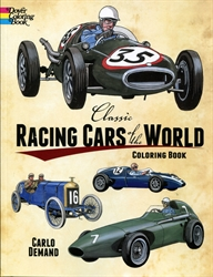 Classic Racing Cars of the World - Coloring Book