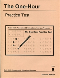 One Hour Practice Test 6 - Teacher Book