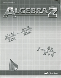 Algebra 2 - Test/Quiz Key