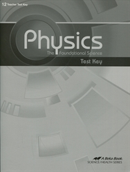 Physics: Foundational Science - Test Key