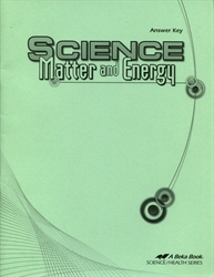 Science: Matter and Energy - Answer Key