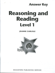 Reasoning & Reading 1 - Teacher's Guide / Answer Key