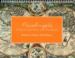 Prescripts Cursive Letters & Coloring: Medieval to Modern World History