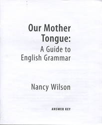 Our Mother Tongue - Answer Key