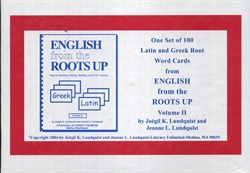 English from the Roots Up Volume II - Word Cards