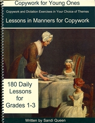 Copywork for Young Ones - Lessons in Manners