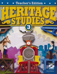 Heritage Studies 3 - Teacher Edition w/CD