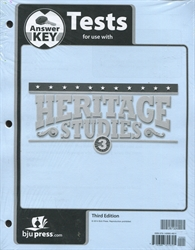 Heritage Studies 3 - Test Answer Key