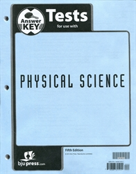 Physical Science - Tests Answer Key