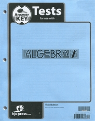 Algebra 2 - Tests Answer Key