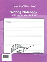 Writing Notebook with Regular Double Lines